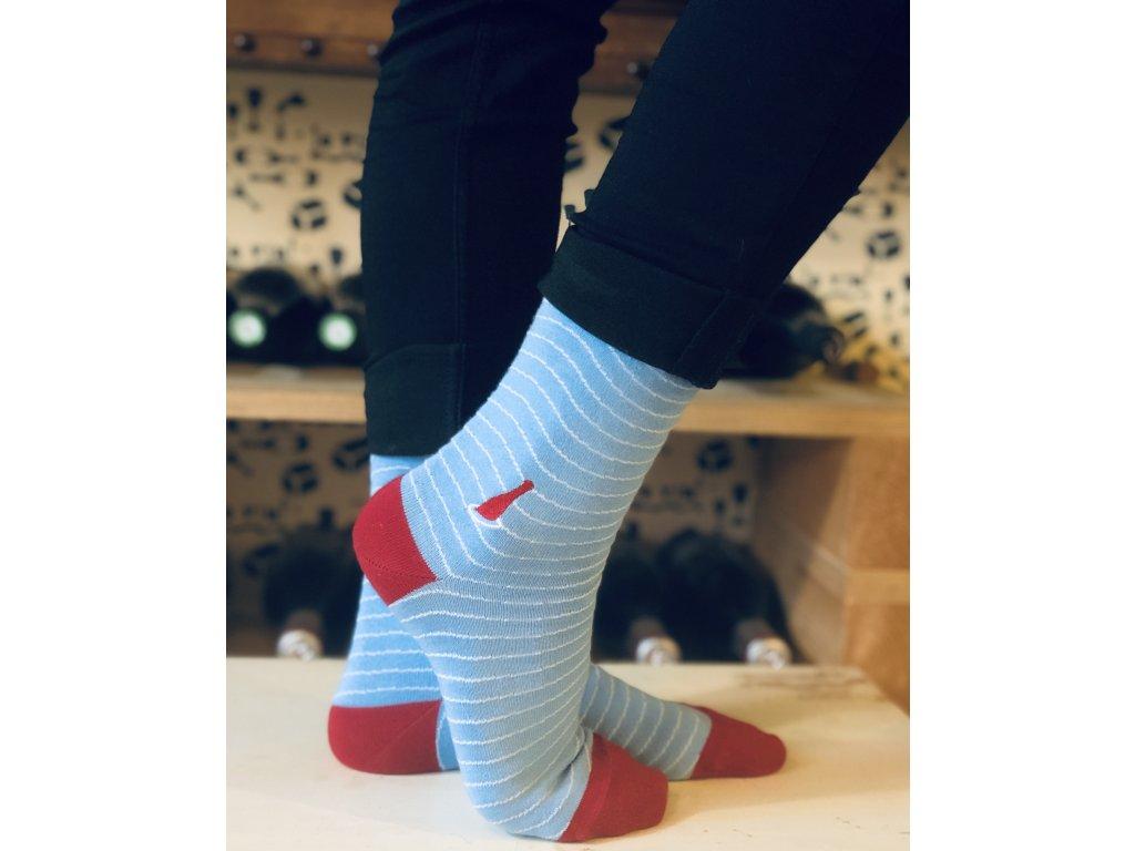 Ponožky #chodímsrhônou modré