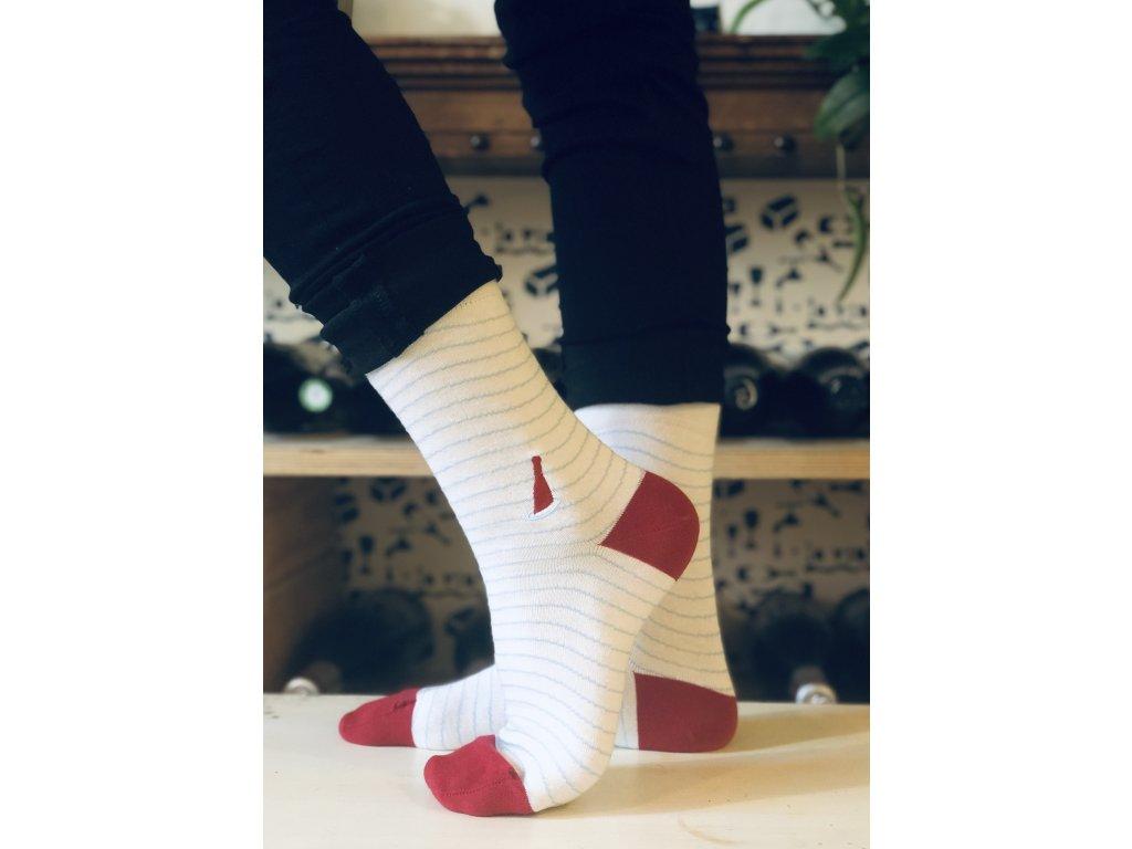 Ponožky #chodímsrhônou bílé